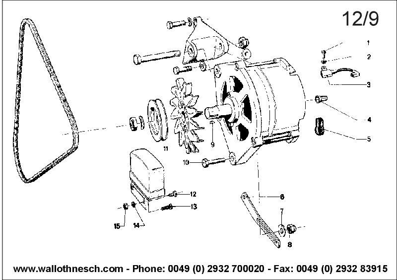 katalogbild 12  09 - bmw 2 5 cs - 3 0 csl  e9    motorelektrik