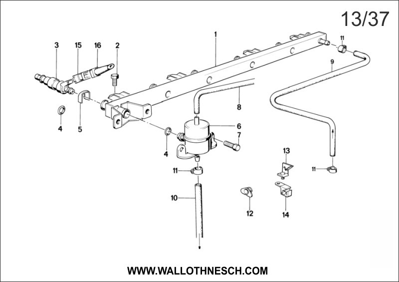 e30 front strut diagram